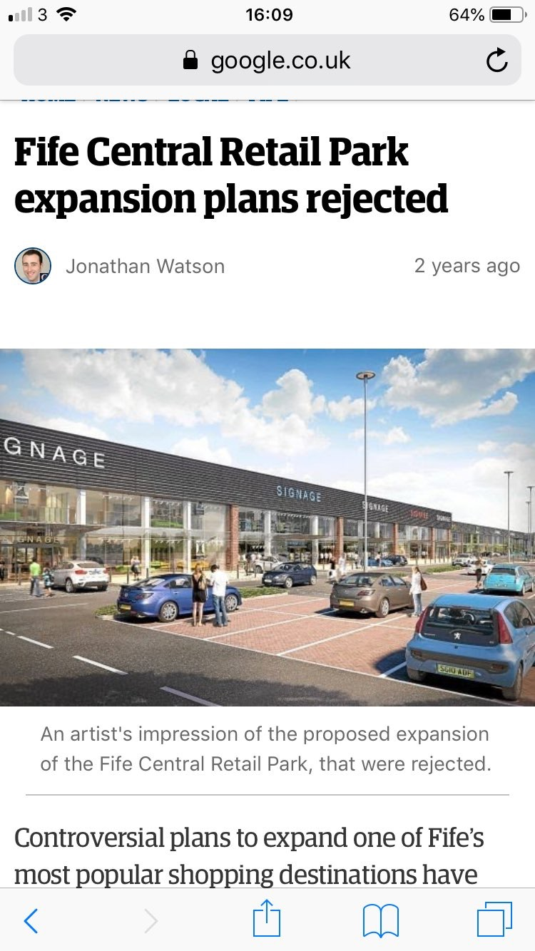 Why has the Sofa Group used a pic of a defunct Scottish retail park to advertise their new premises?