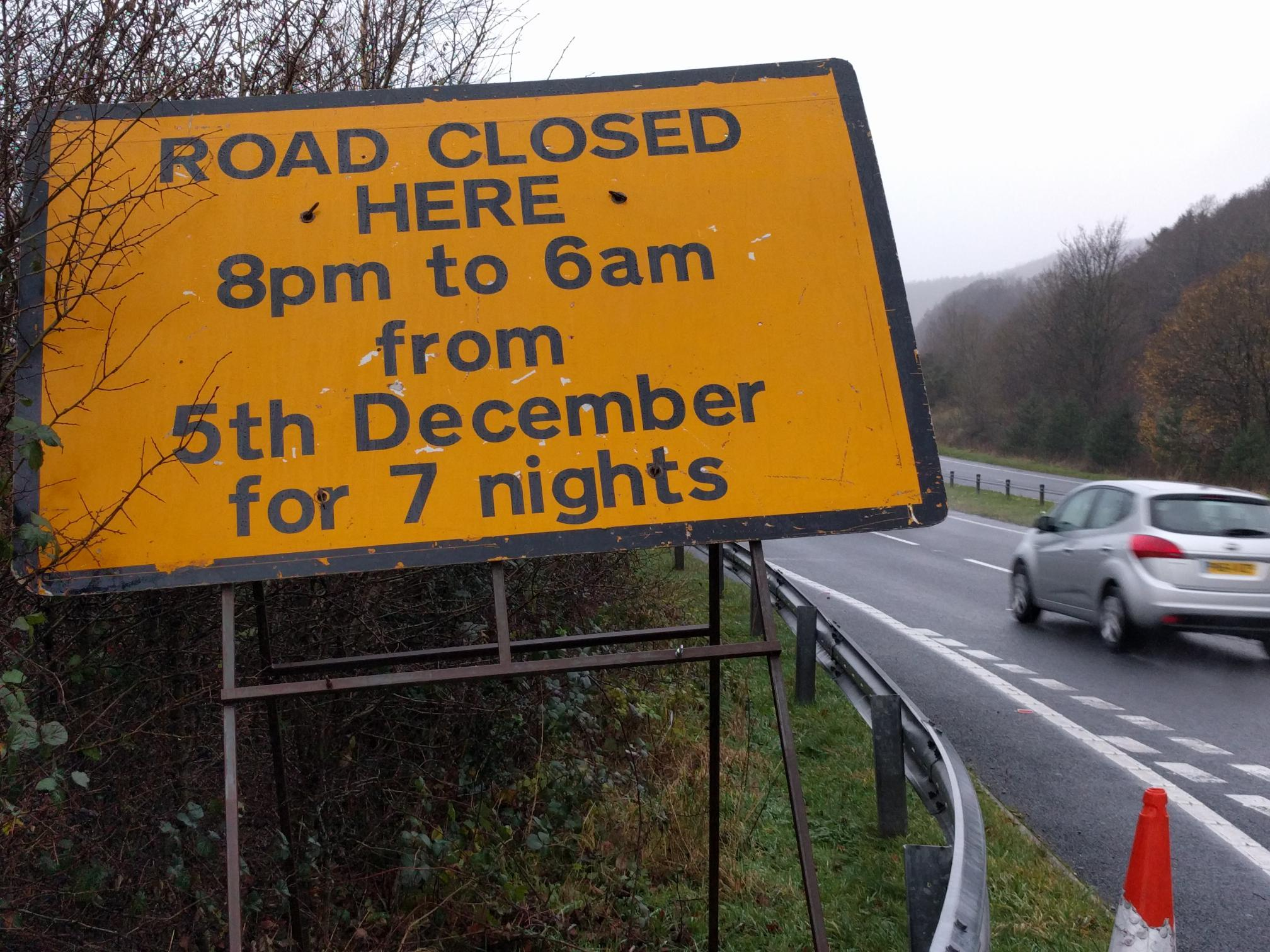ERROR: The wrong road signs on the A590 at Newby Bridge