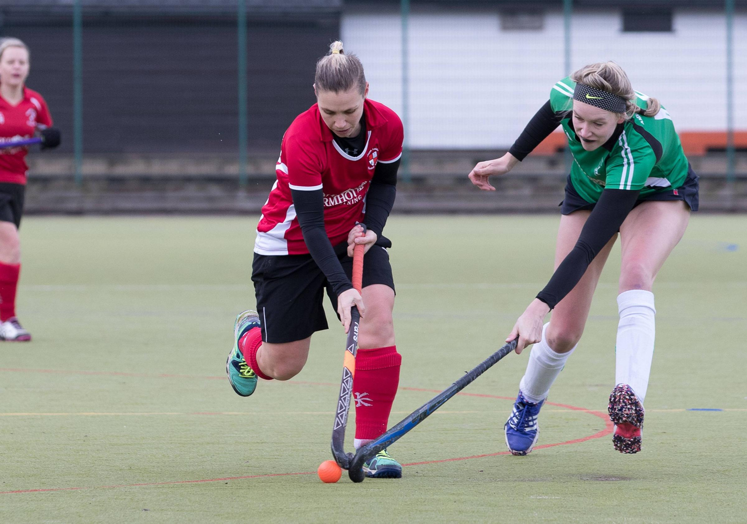 CONSOLATION STRIKE: Emma Armstrong claimed South Lakes ladies' only goal                        Picture: Chris West
