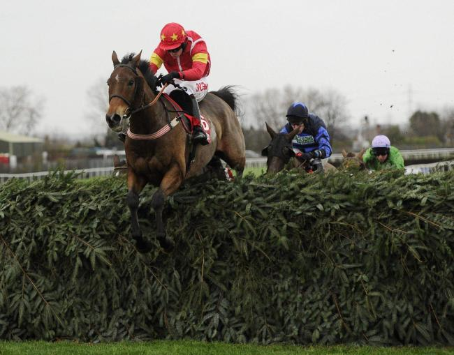 WINNING DUO: 2015 champion Highland Lodge will again by ridden by Henry Brooke at the Becher Chase
