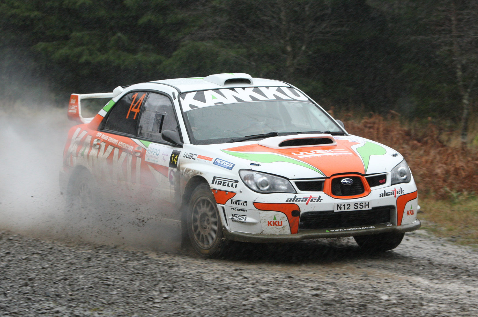 ON THE LIMIT: Windermere's Gary Tomlinson and co-driver Andy Murphy on the attack in this year's Grizedale Stages	 All pictures: Phil James