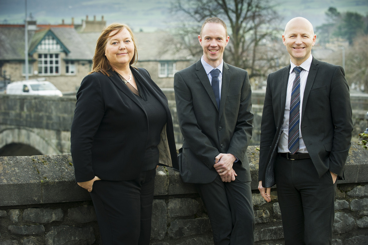 Left to right: Amanda Heys, Chris Hill and David Squire
