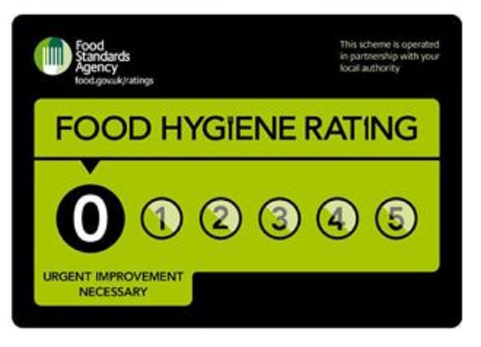 Blackburn with Darwen takeaways with a food hygiene rating of zero