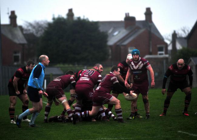 Colin Niven for Hawcoat Park in their game against Aspatria.