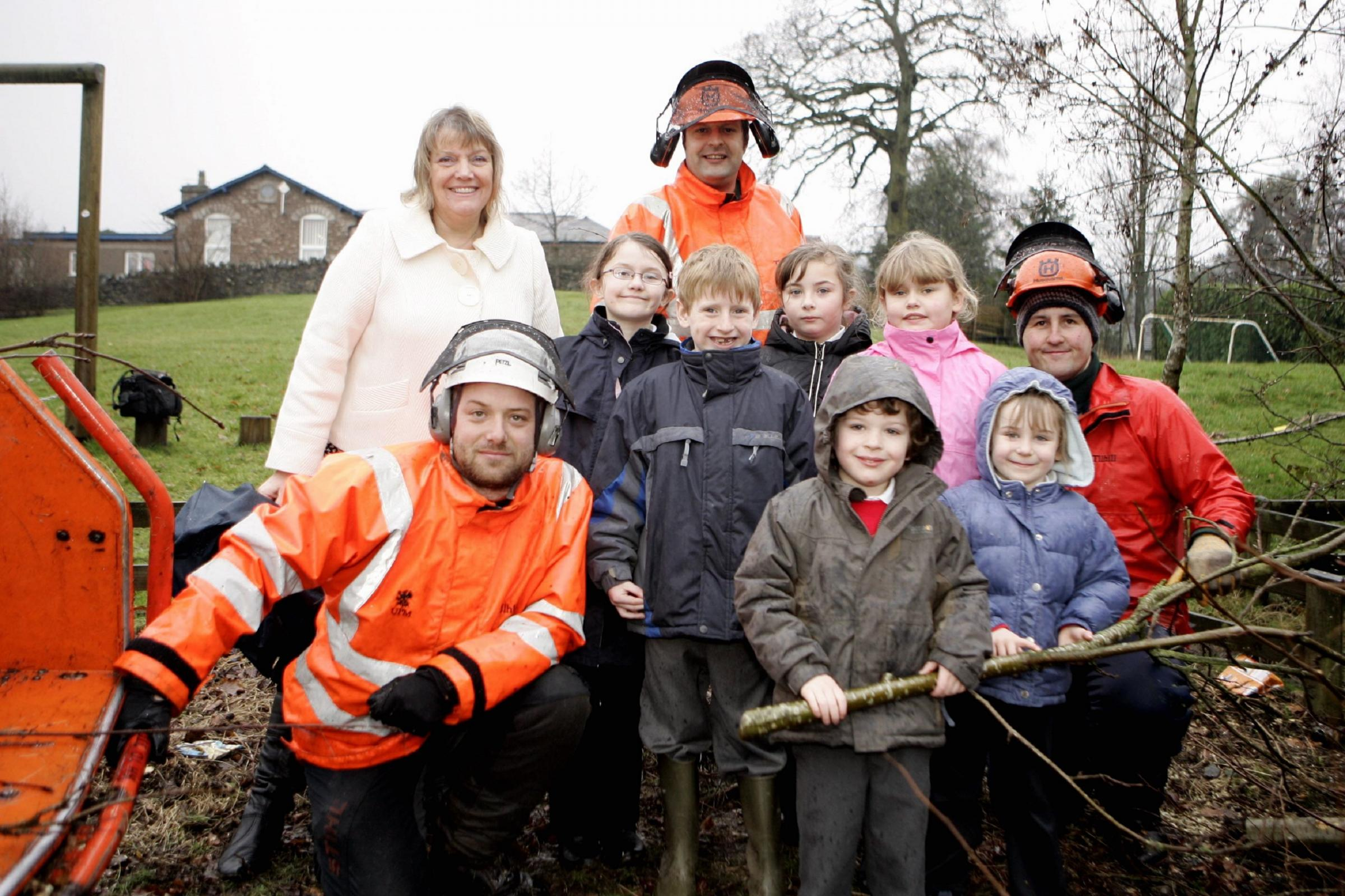 Project: Youngsters at Lindale School in 2009 helped to transform a disused outdoor space into a garden