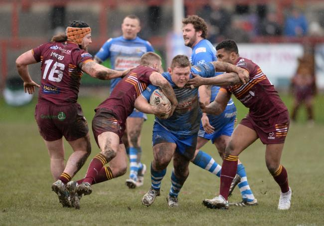 BATTLE: Barrow Raiders' win over Batley Bulldogs was one of several eye-catching results Picture: Richard Land