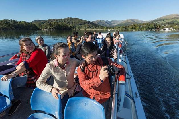 The number of Chinese tourists enjoying Windermere Lake Cruises has seen a big rise.