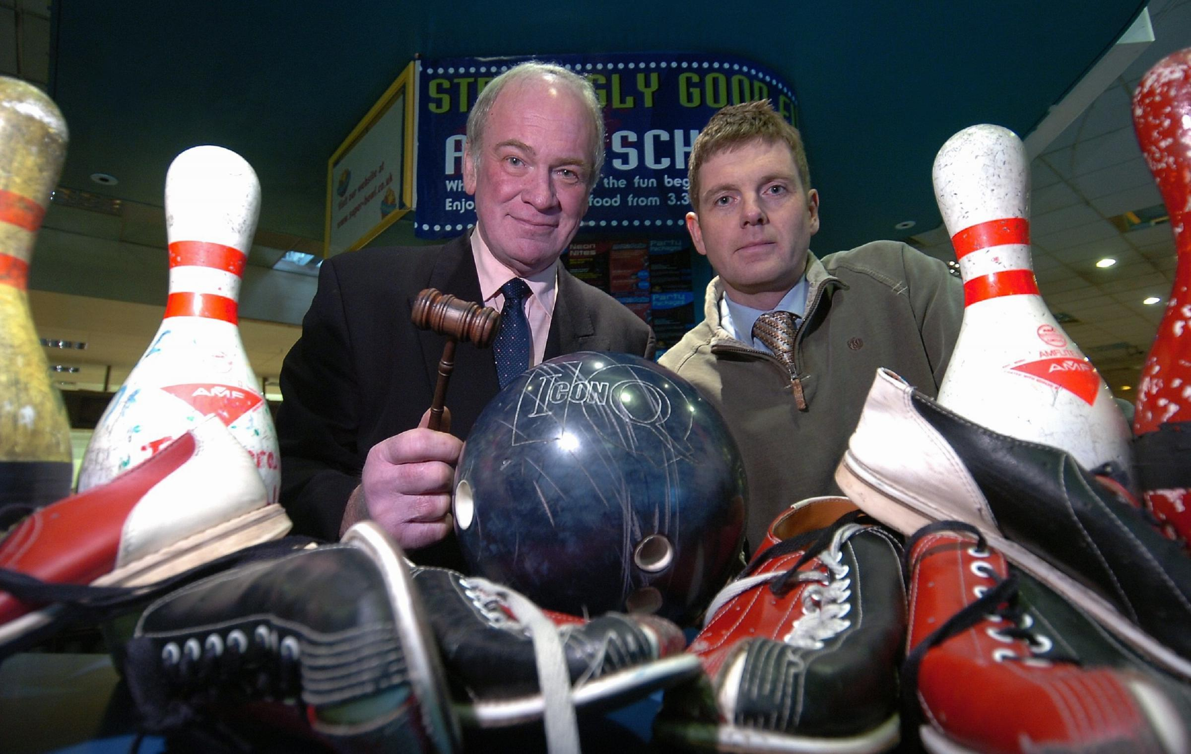 Sales: Howard Whitaker and Alastair Procter ahead of the 2009 auction of the contents of the Barrow Superbowl