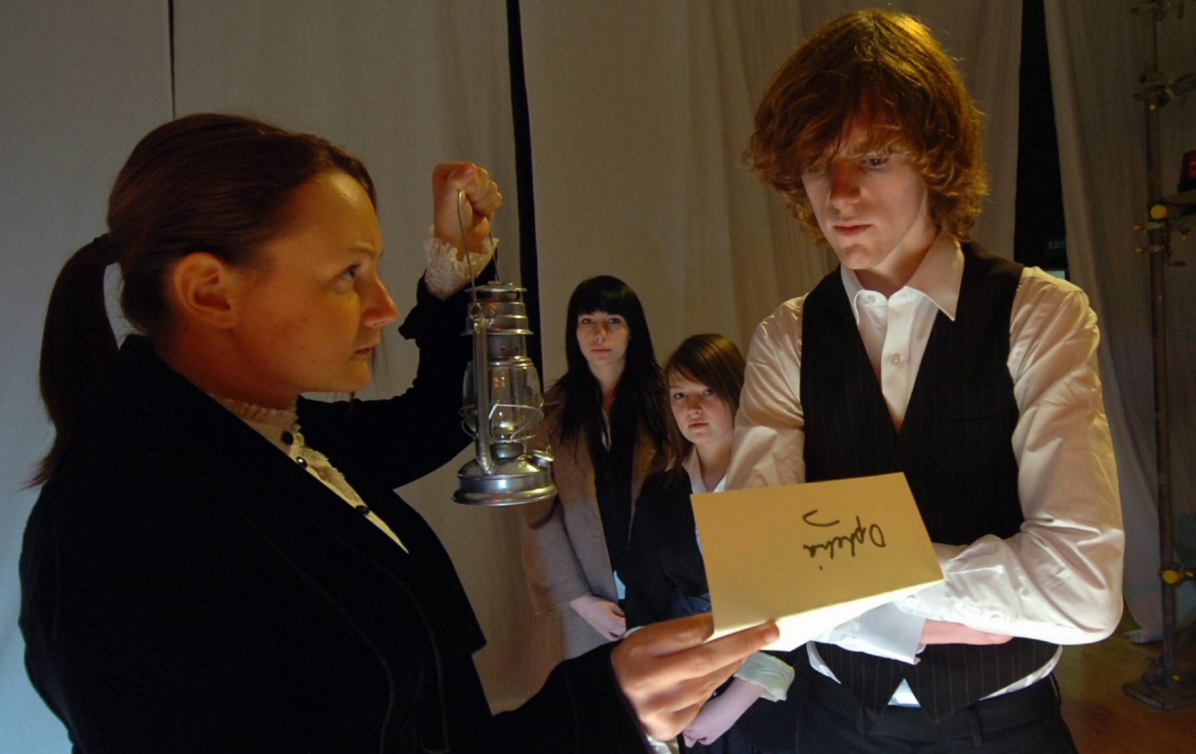 Performance: Bex Elrick and Chris Devonald in a 2009 Shakespeare production by Barrow Sixth Form College students