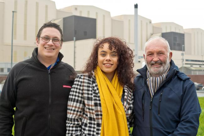 APPRENTICE: Paris-Ayo Corkill with father Kevin and grandfather Chris