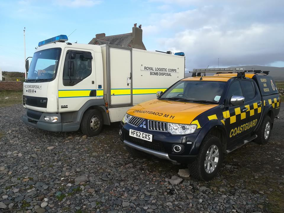 ALERT: Police and coastguard called to reports of unexploded ordnance. Photo Millom Coastguard Rescue Team
