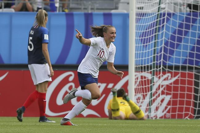 ON TARGET: Georgia Stanway celebrates a goal for England.