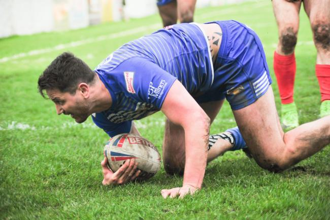 Jarrad Stack scored two tries for Barrow Raiders against Dewsbury Rams