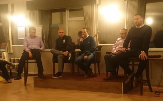Barrow AFC chairman Paul Hornby at a supporters' Q&A