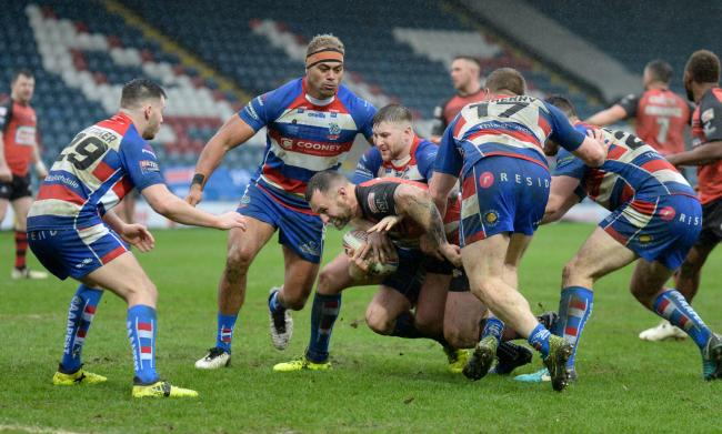 NOT FAR OFF: Barrow Raiders were beaten away to Rochdale Hornets last Sunday						Picture: Richard Land