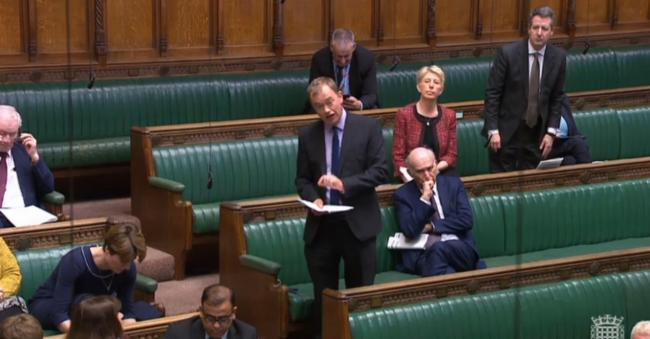 Tim Farron on the floor of the House of Commons