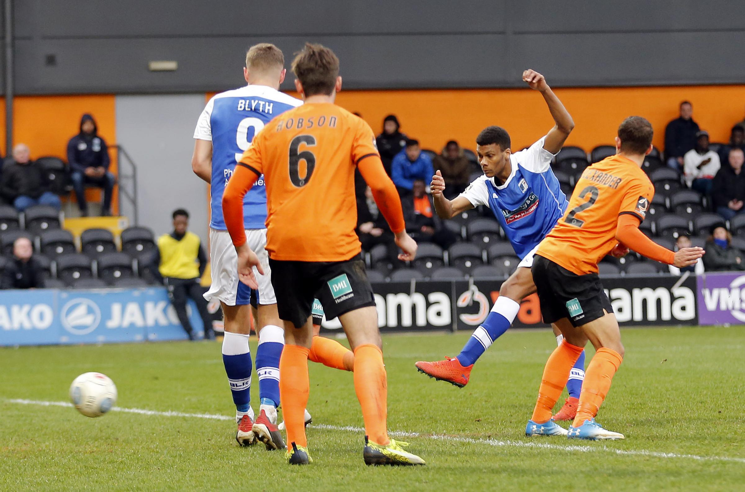 Kyle Jameson scored the Bluebirds' third goal in eight games at Barnet
