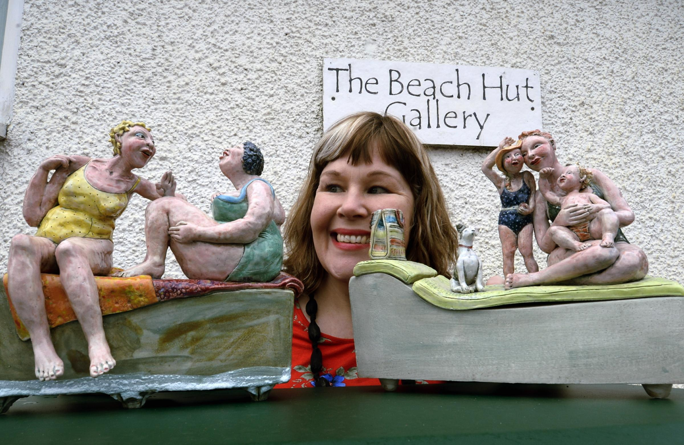 Ceramicist Sally Toms is one of the featured artists in Beach Hut Gallery's first exhibition of the new season, Three Shires. Picture: Jon Granger