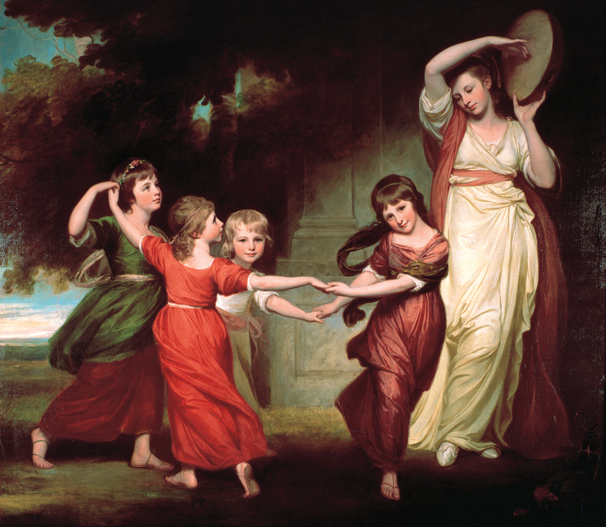 George Romney, The Gower Family, c1776-77 is one of the many works in the nationally important Abbot Hall Art Gallery collection