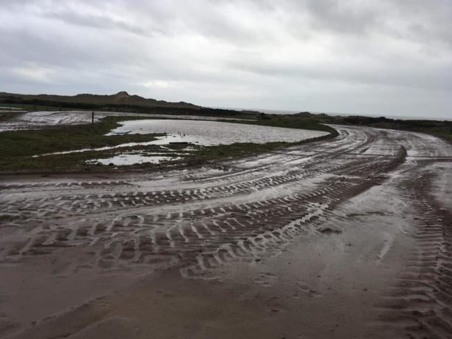 Haverigg's moto-cross track is currently waterlogged Picture: Cumbria MX