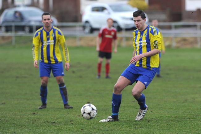 ON TARGET: Matt Lockley was among the scorers for Walney Island as they beat Furness Rovers 			Picture: Leanne Bolger