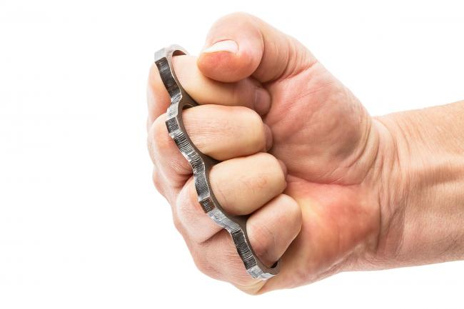WEAPON: A file photo of a knuckleduster