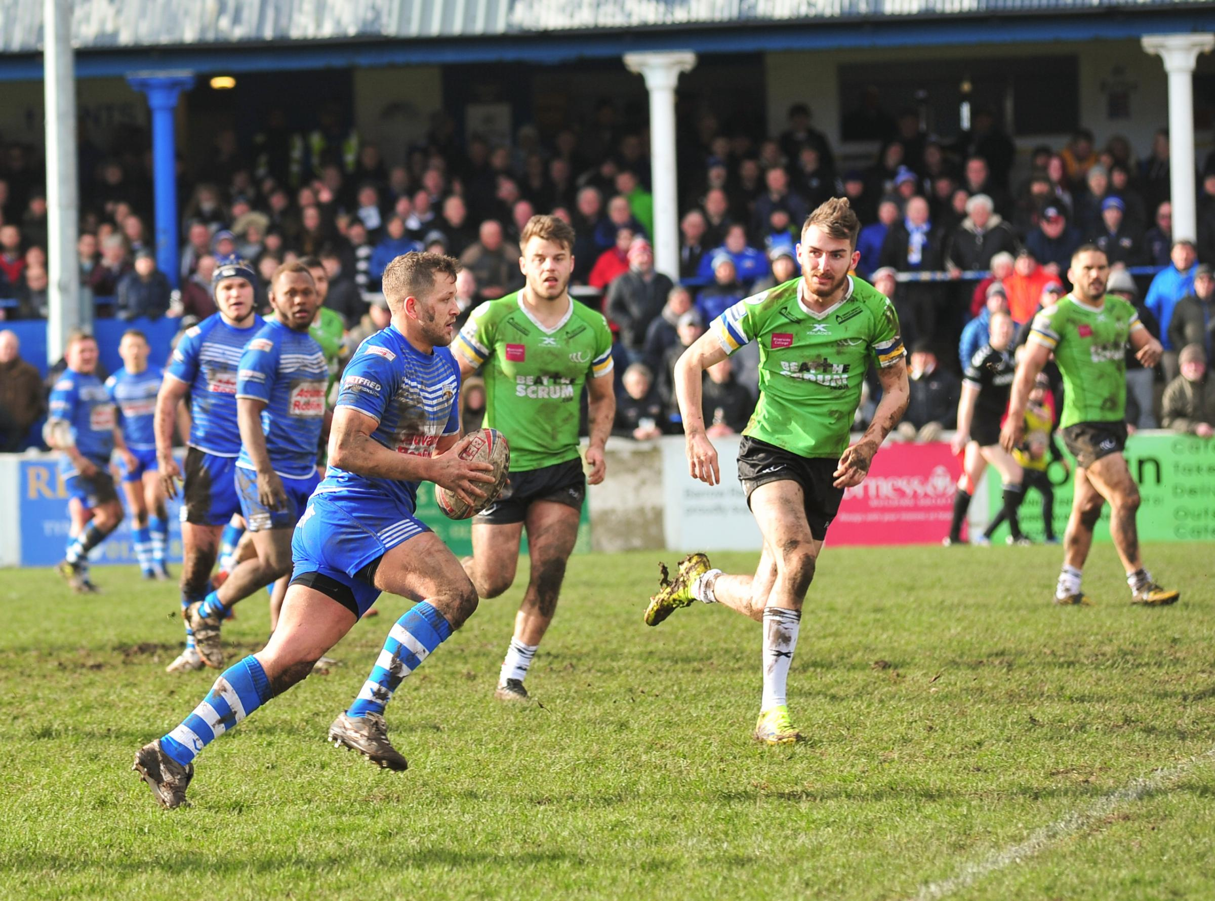ENCOURAGING: Barrow Raiders performed well against full-time Widnes Vikings Picture: Donna Clifford