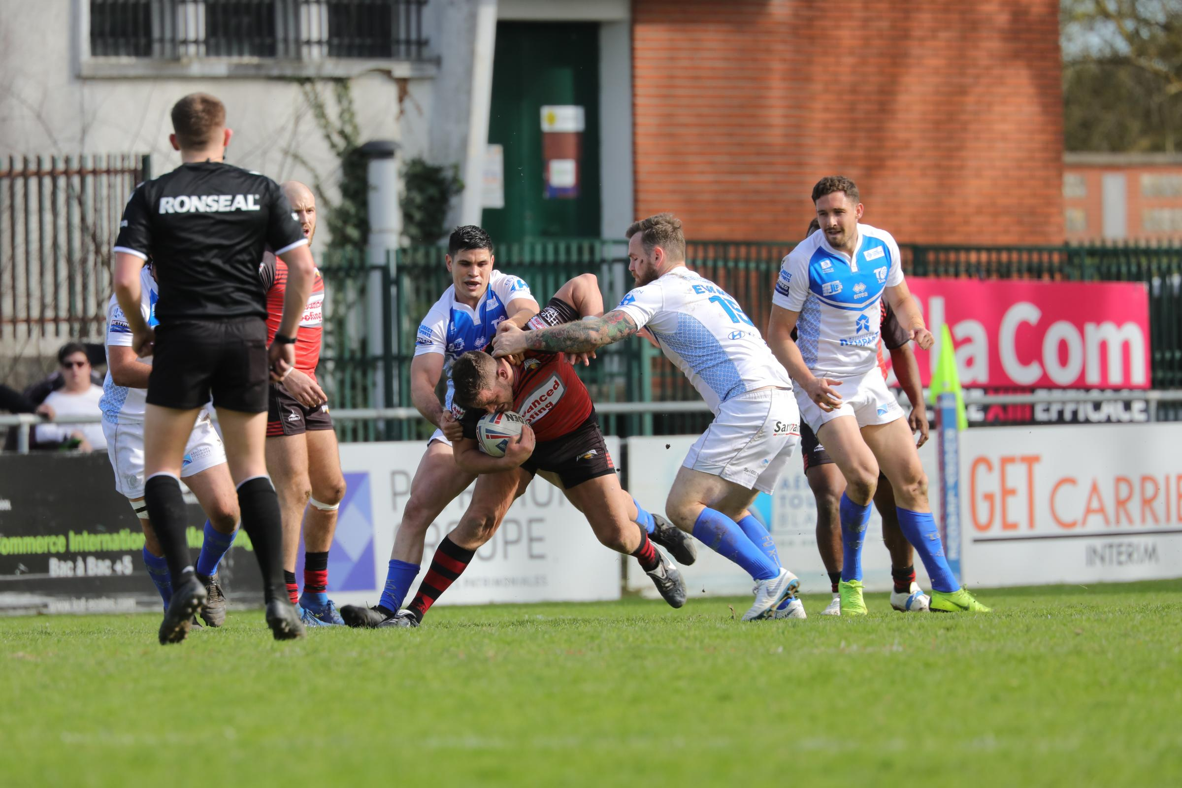 Barrow Raiders endured a tough day away to Toulouse Olympique last Saturday Picture: Bernard Rieu