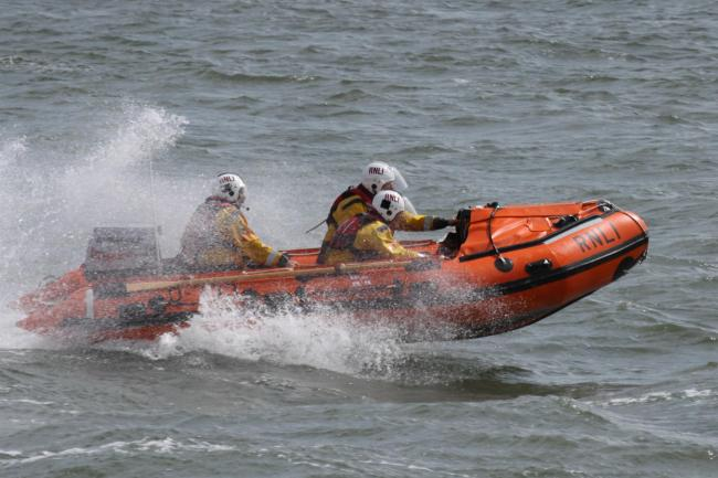 HELP: A RNLI lifeboat was launched early this morning to help a stranded yacht in Walney Channel