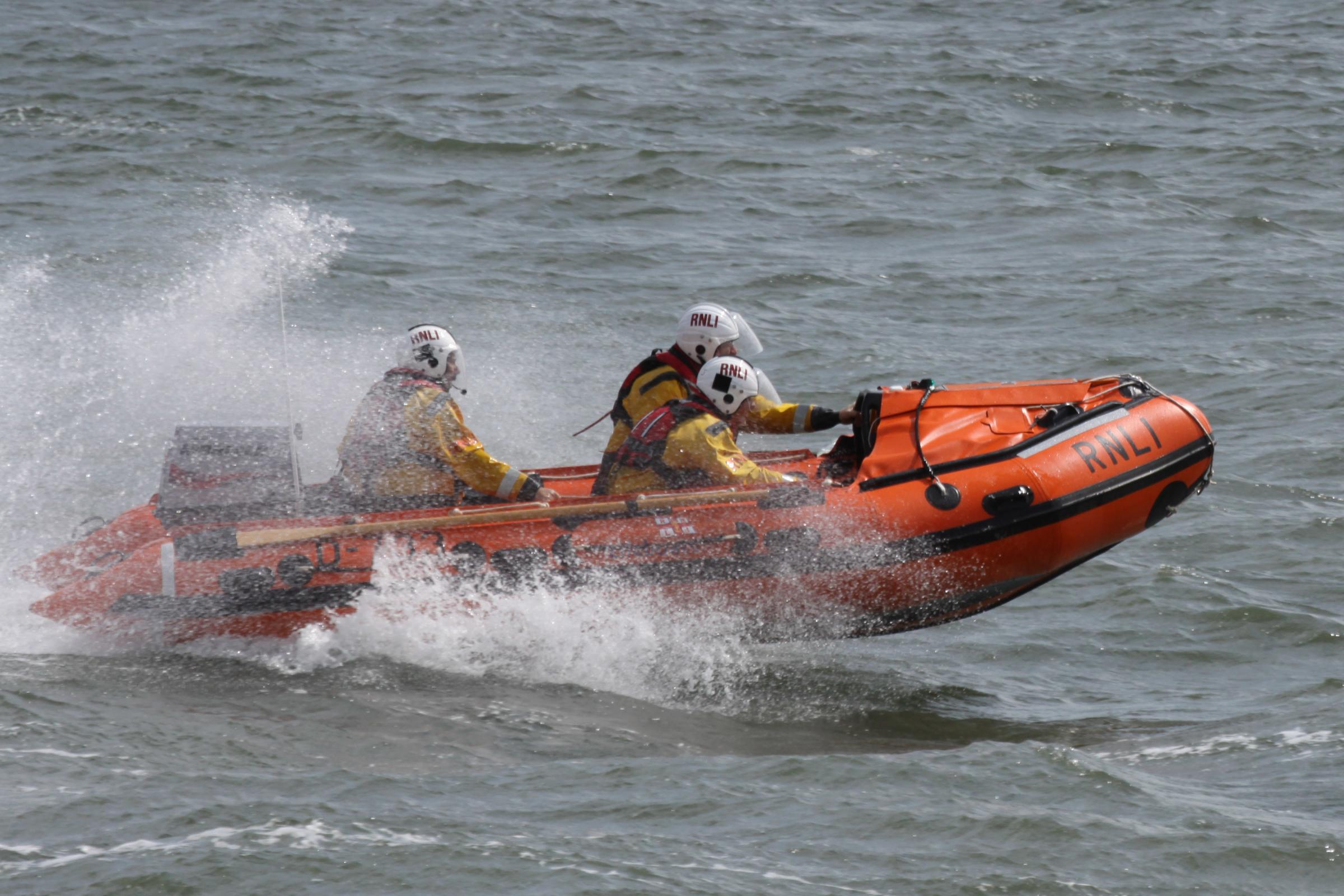 ASSISTANCE: Barrow RNLI's inshore lifeboat the Vision of Tamworth was tasked to the scene