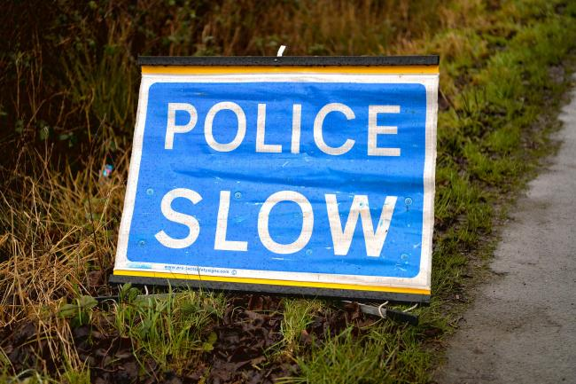 COLLISION: Police were called out to the A590