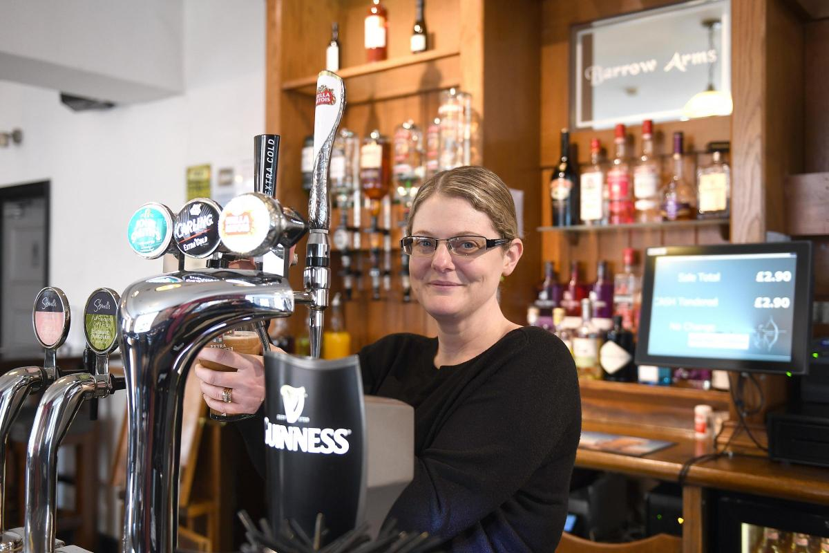 e93990669bc Pub landlady prepares to pour her last pint at the Barrow Arms after ...