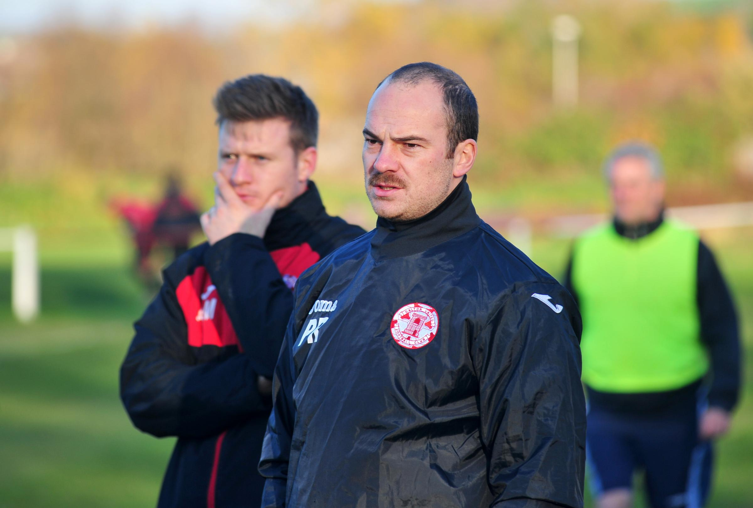 REBUILDING: Dalton United joint-managers Andrew Marshall (left) and Phil Rigg 	Picture: Donna Clifford