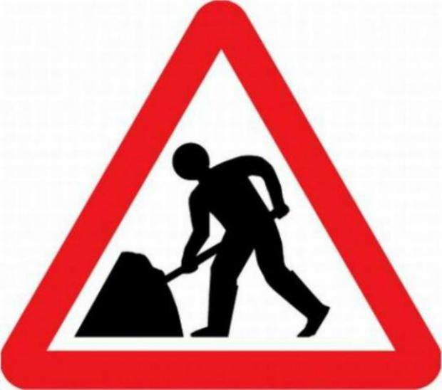 Roadworks starting on A592.