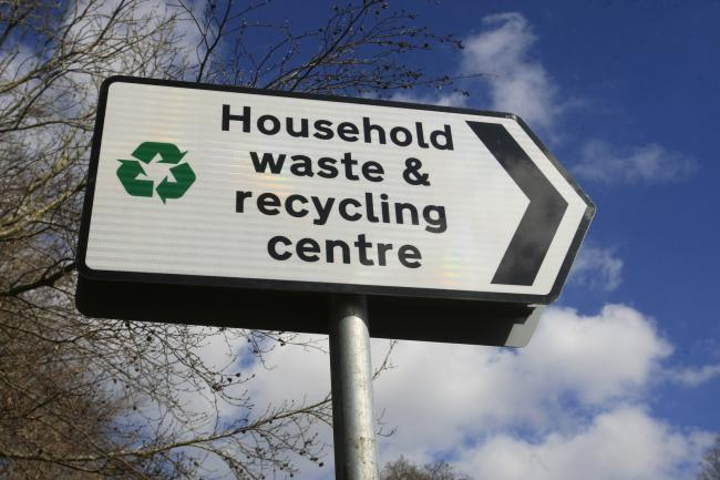 SIGN: Recycling centre