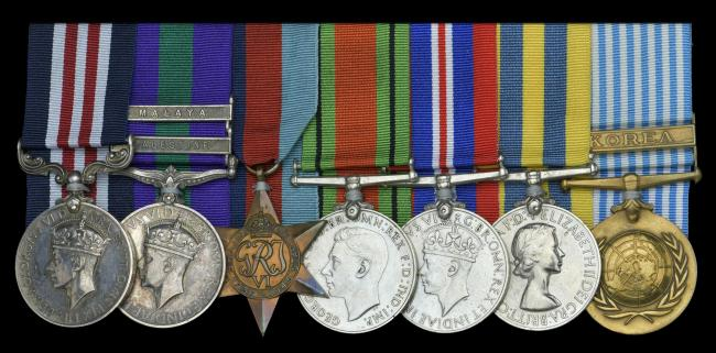 Bravery: Harry Campbell's group of military awards including, left, the Military Medal