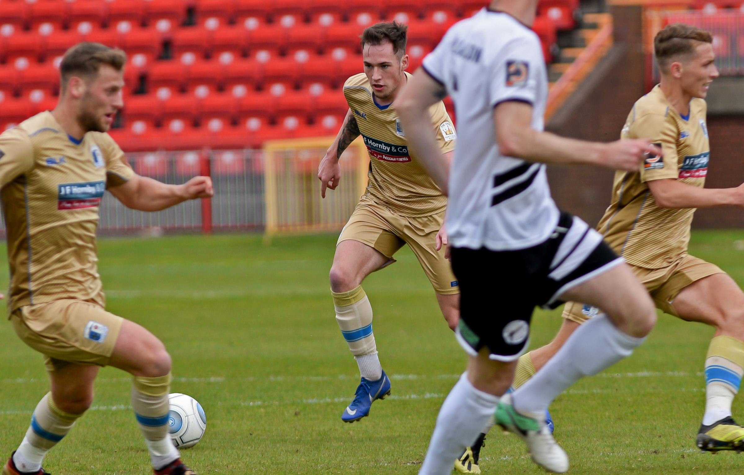 The Bluebirds threatened to run riot in the first half at Gateshead. Picture: Neil Smith