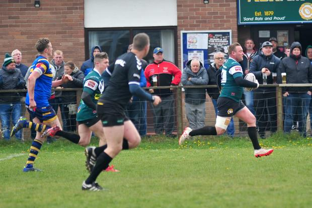 TRY SCORER: Ben Lewney (right) was on the scoresheet for Askam