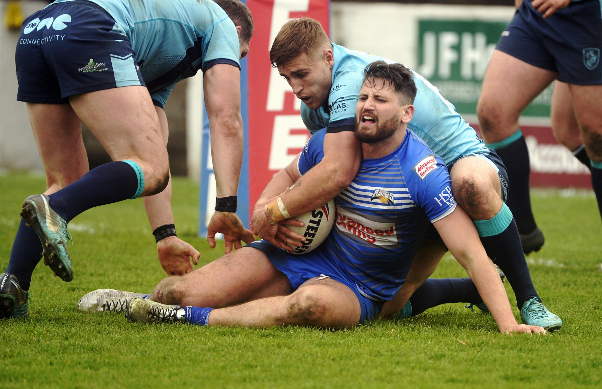 Barrow Raiders gave a battling performance against Featherstone, but fell to another defeat                  Picture: Jon Granger