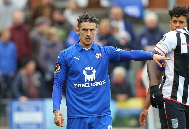 Bradley Barry arrives at after two years at Chesterfield             Picture courtesy of Derbyshire Times