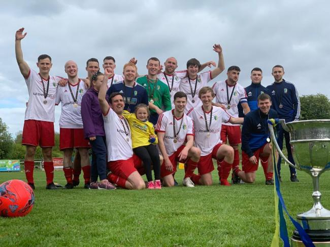 REWARD: Walney Island with the West Lancashire League Challenge Cup