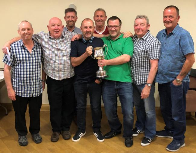 ON TOP: Friday league darts champions British Legion A
