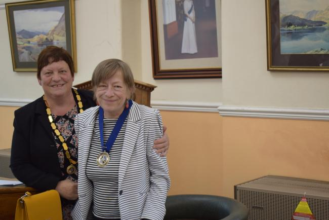 DEPUTY: The new Millom deputy mayor was awarded to Cllr Ruth Peter
