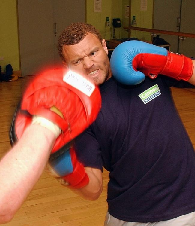 Words Neil L. Professional Boxer Lee Kellett who is training at Cannons health club in Barrow. JON GRANGER REF: 0288886