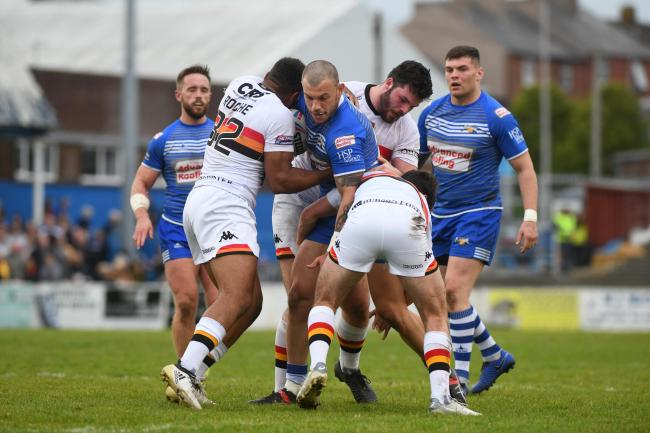 Alec Susino in action against Bradford Bulls