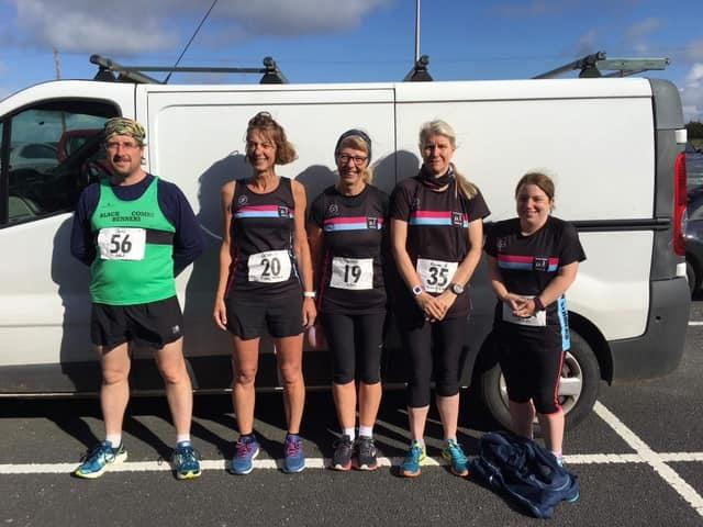 PACE: A team of five from Millom Striders Running Club took part in the Tidal Triple series over the weekend, introducing runners to three coastal route challenges to make a three-day back-to-back marathon bonanza, which took place in Rampside, Barrow and