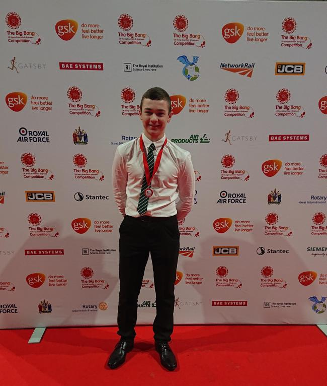 STEM: Millom School pupil Jack Tallentire won UK Intermediate Young Engineer of the Year