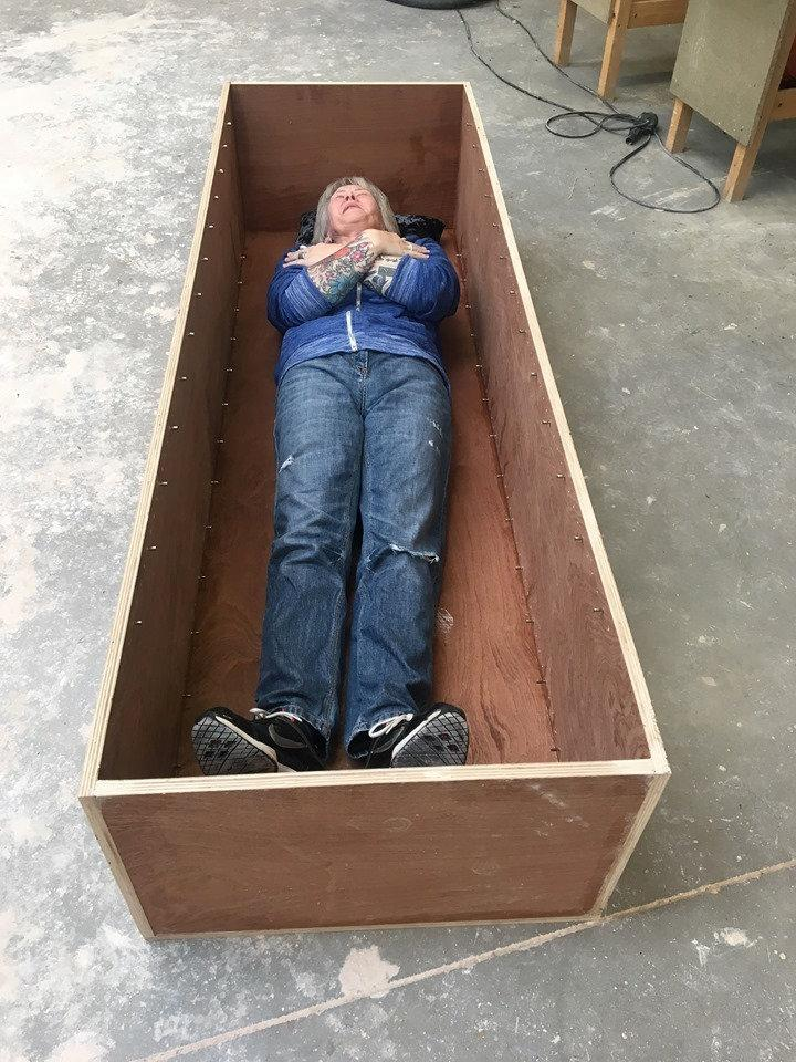 Wacky gran builds her own coffin to save money on her funeral | The Mail