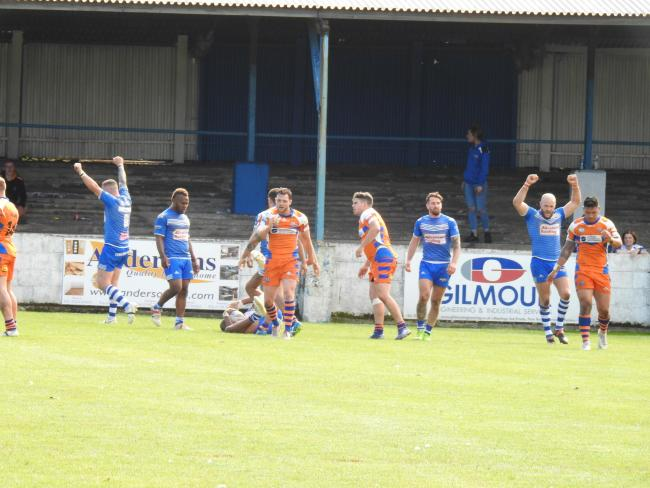 Barrow Raiders' players produced their best performance of the season in beating Halifax                Picture: Leigh Ebdell